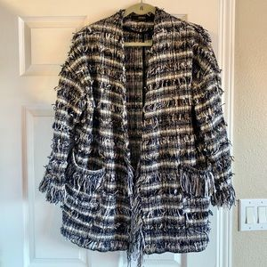 Gorgeous ZARA Frayed Tweed Jacket